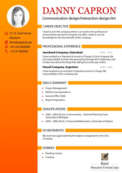 best resume format tips best resume format 2016 infographics best resume format