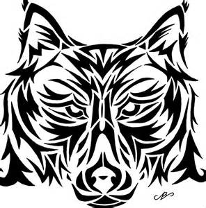 wolf tribal design drawing by nikolai bartolf on deviantart