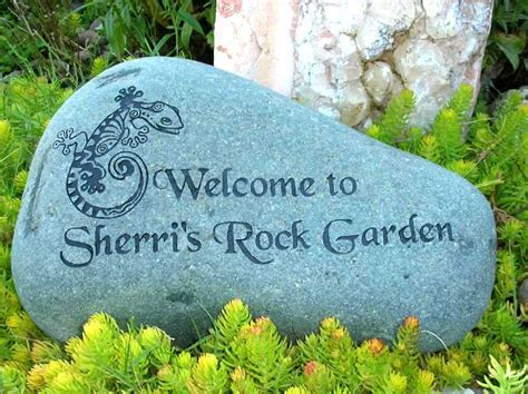 Engraved Rock 187 Large Engraved River Rock Custom Garden Rocks