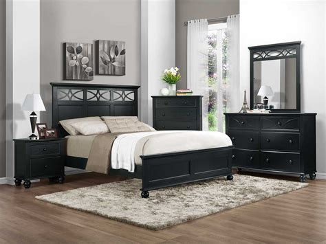 set bedroom furniture homelegance sanibel bedroom set black b2119bk bed set at