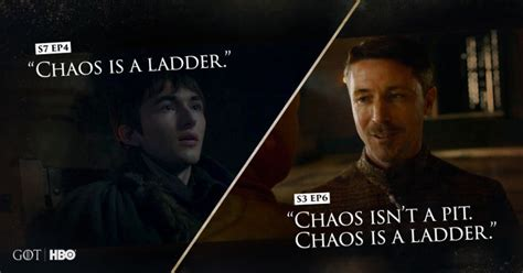 why of thrones is of thrones why bran s quot chaos is a ladder quot callback