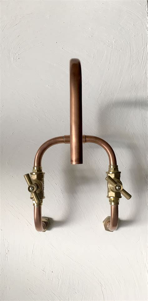 industrial style faucets it s made of 15x1mm copper pipe and bronze fittings