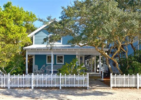 Seaside Florida Cottage Rentals by Front Exterior Blue Suede Shoes Cottage Rental Agency