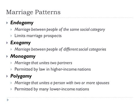 Exogamous marriage definition of marriage