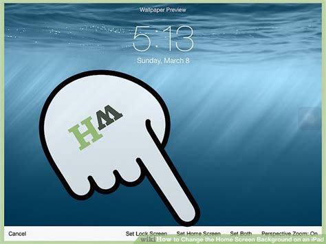 easy ways  change  home screen background   ipad