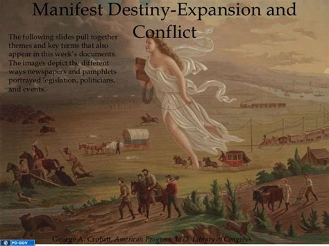 manifest destiny and sectionalism manifest destiny expansion and conflict