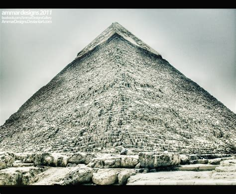Piramid White by Great Pyramid Black And White By Ammardesigns On Deviantart