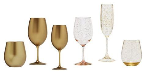 Metallic Gold Bpa Free Acrylic Plastic White Wine Glass