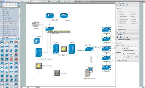Cisco Network Layout Software | network diagramming tools design element cisco