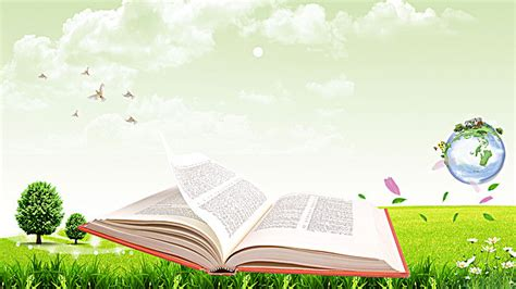 background design reading environmental poster background reading material meadow