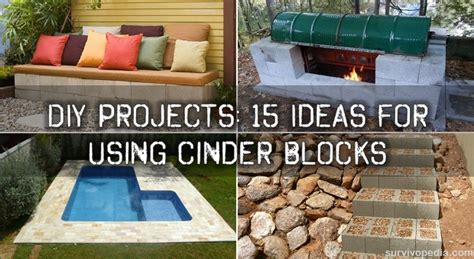 Concrete Garden Benches Diy Projects 15 Ideas For Using Cinder Blocks Survivopedia