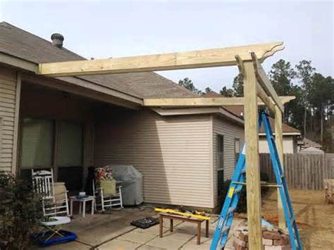 building pergola attached to house pergola design ideas building a pergola attached to house oak polished finish wooden posts