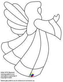 Printable angel stained glass patterns