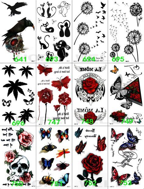 Sticker Stiker Tato Butterflytemporary 1 aliexpress buy 12sheets 3d black temporary sticker eagle butterfly leaf