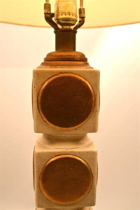 stacked cubes table l stacked cube plaster l with gold dot motif for sale at