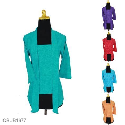 Blus Batik Kutu Baru Embos Kode Ba6639 kebaya kutu baru embos tanggung motif abstrak bunga warna