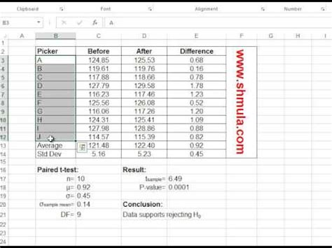 t test calculator prove process improvement with paired t test