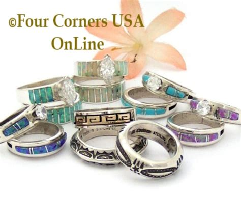 Native American Indian Wedding Bands engagement wedding ring sets navajo wedding rings four