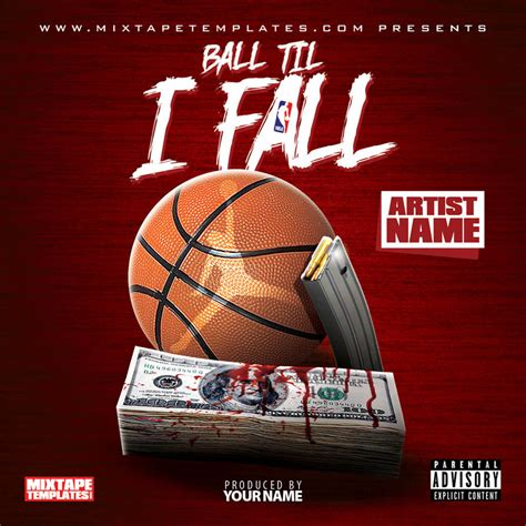 design cover art free online ball til i fall mixtape cover template by