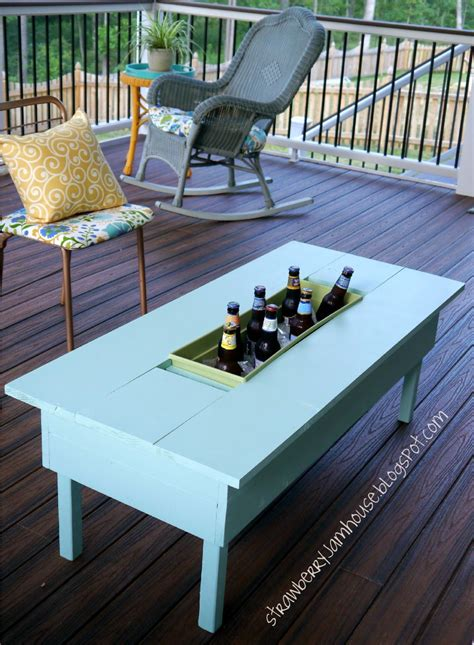 Patio Table With Cooler How To Build Or Upgrade An Outdoor Table With Built In Cooler