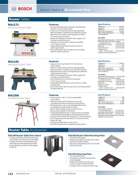 bosch ra1171 cabinet style router table manual accessories router tables router table accessories