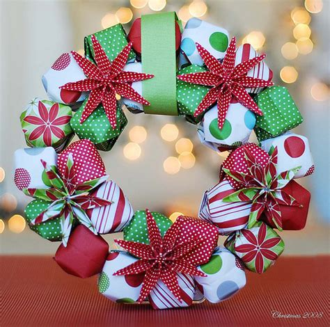 Origami Paper Wreath - make a stunning origami wreath 187 dollar store crafts