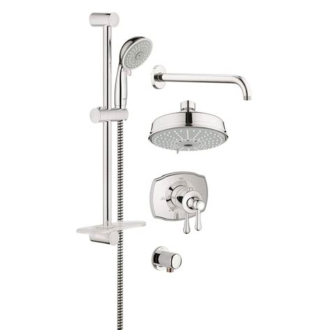 grohe 26194000 retrofit polished chrome showerpipe shower grohe bathroom showers shower systems kitchens and baths