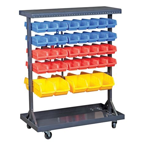 Rak Organizer Mobil 74 bin mobile sided floor rack