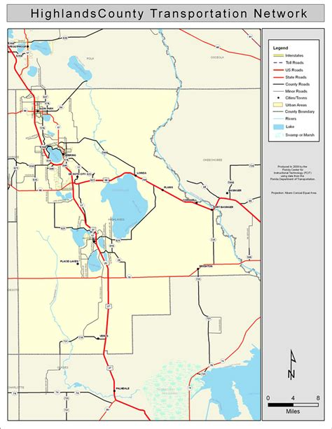 Highlands County Records Highlands County Road Network Color 2009