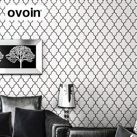black and white moroccan wallpaper moroccan trellis black white modern geometric pattern