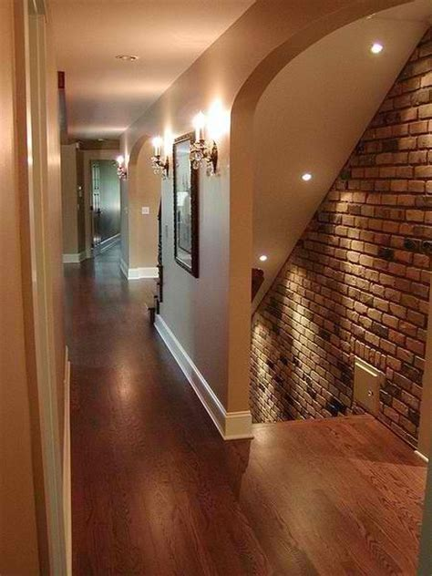 beautiful brick accent wall basement ideas