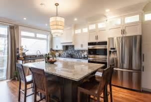 houzz upscale townhome with view downtown john kitchen island ideas tags for small
