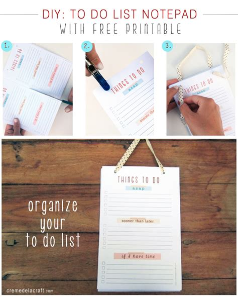 Printable Notepad To Do List | diy things to do notepad with print out breakfast