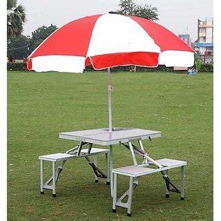 picnic folding chair with umbrella aluminium folding portable picnic table with chair