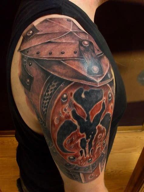 tattoo shoulder armor gladiator armour shoulder tattoo skin art pinterest