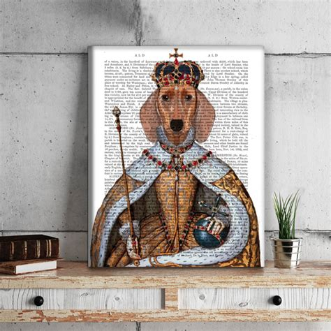 dachshund home decor dachshund print dachshund queen by fabfunky home decor