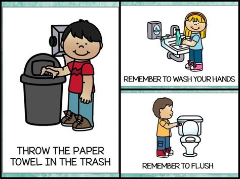 throwing trash in toilet kids clipart collection