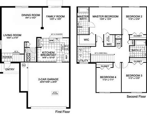 free single family home floor plans fresh single family