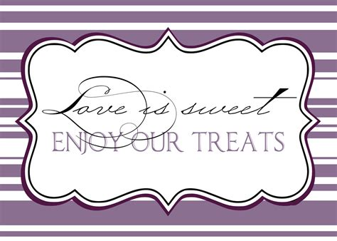 sign template pin free buffet labels printable cake on