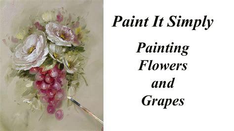 paint roses flowers  grapes advancing decorative