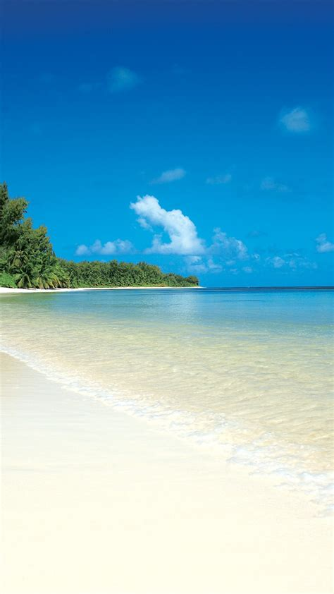 wallpaper for android beach white sand tropical island beach android wallpaper free