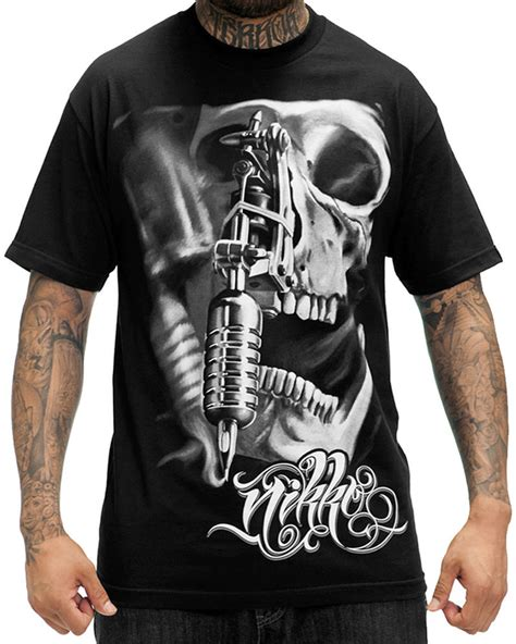 t shirt design tattoo sullen clothing nikko hurtado mens t shirt black skull