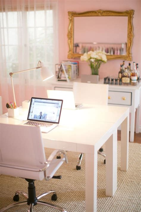 matching office desk accessories girly feminine pink home office desk home