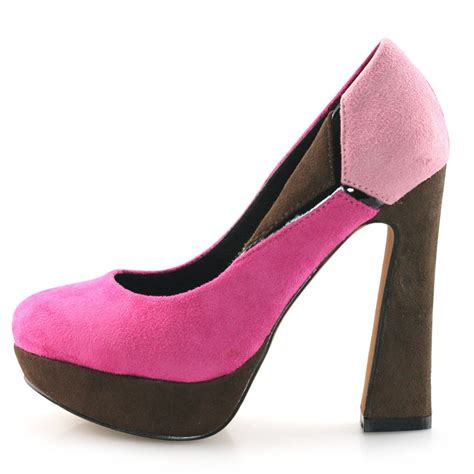 discounted high heels shoezy cheap discount suede chunky high heels closed toe