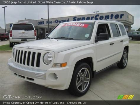white jeep patriot 2008 white clearcoat 2008 jeep patriot limited pastel