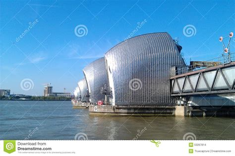 thames barrier animal clinic thames barrier stock photo image 53267814