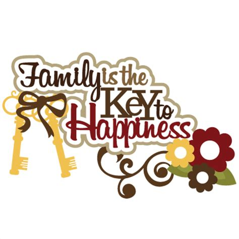 Free Software Mailed To Me At Home family is the key to happiness svg scrapbook title family