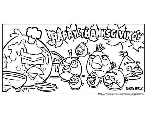 Angry Birds Thanksgiving Coloring Pages | angry birds coloring page