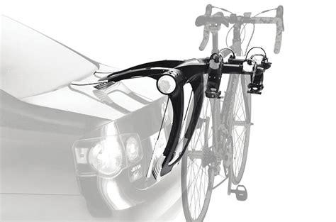 Bike Rack On Front Of Vehicle by Thule 9001 Raceway 2 Bike Rear Mounted Bike
