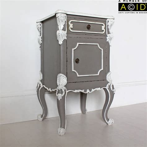 Gray Bedside Table by Furniture Buy Grey Wooden Bedside Table With Grey Wash